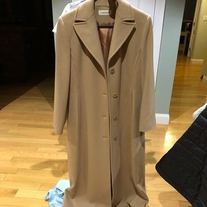 Calvin Klein womens trench coat size 4 merino wool